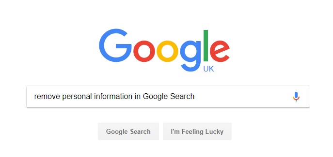remove personal information in Google Search